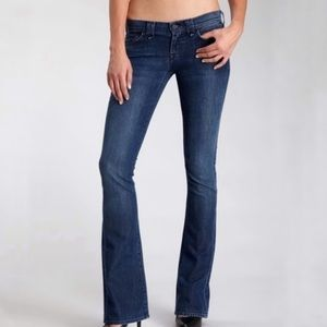 7 for all mankind rocket bootcut dark wash jeans